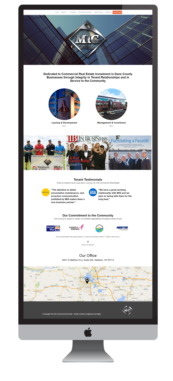 Commercial Real Estate web design Madison, WI - Enlightened Owl Digital