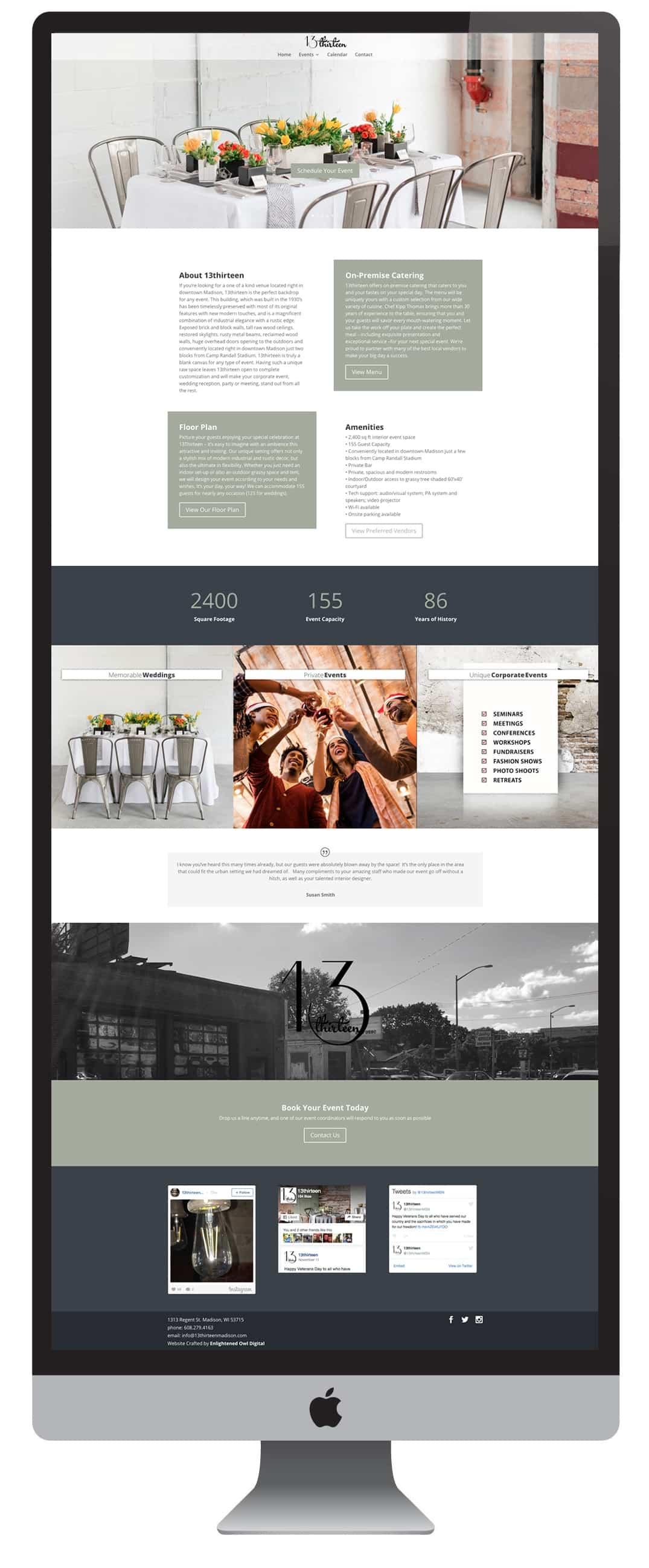 business web design Madison, WI - Enlightened Owl Digital