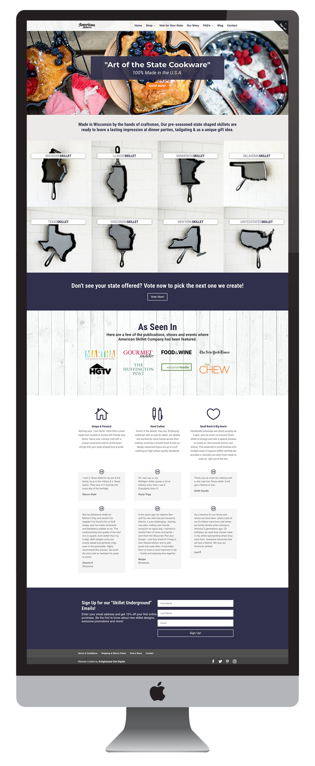 Shopify web design Madison, WI - Enlightened Owl Digital